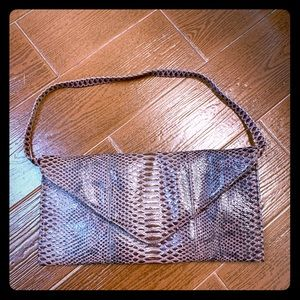 Vegan leather snake skin print purse